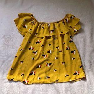 Yellow Print Blouse